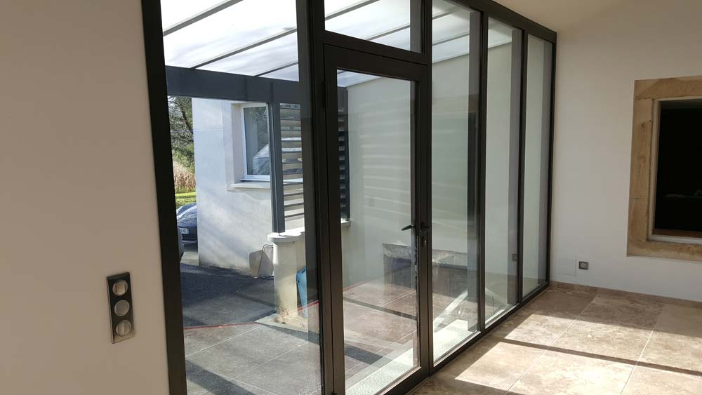 Chantier menuiseries aluminium r gion rh ne alpes - Porte entree renovation ...