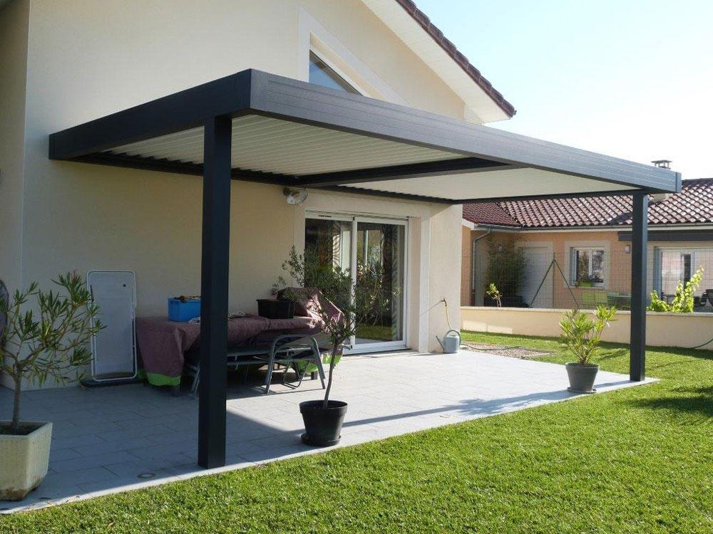 fabrication et pose de pergolas bio climatiques. Black Bedroom Furniture Sets. Home Design Ideas